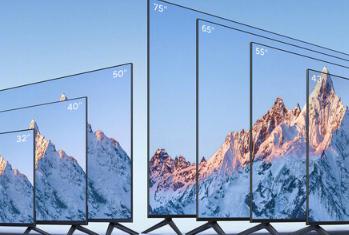 小米展示了从32英寸到75英寸不等的7种尺寸的MiTVEA系列