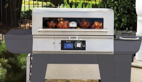 Cuisinart的颗粒烧烤用木头或木炭做饭