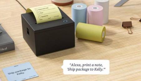 亚马逊将生产基于Alexa的智能便签打印机