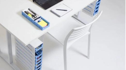奥的斯办公桌整理器有助于保持办公桌整洁