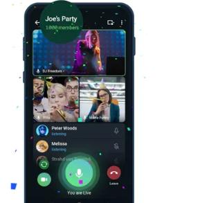 Telegram的群组视频通话现在最多可以有1000名观众