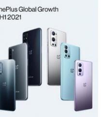 OnePlus宣布它是2021年上半年欧洲增长最快的智能手机品牌