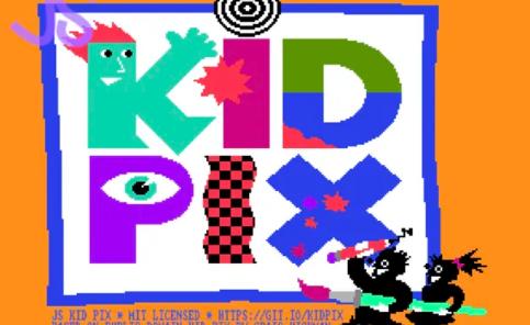 使用这款KidPix网络应用程序像1989年一样绘画