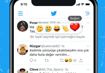 土耳其的Twitter用户现在可以使用表情符号对推文做出反应